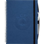 blue wirebound hardback notebook