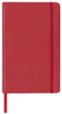 red smooth hardback notebook